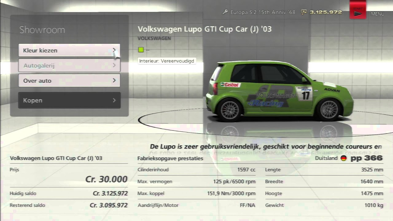 Volkswagen lupo gti cup car j 03