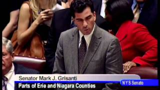 Senator Mark Grisanti speaks on same sex marriage bill