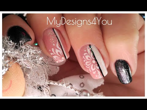 Winter New Year's Nail Art Design Tutorial  ♥