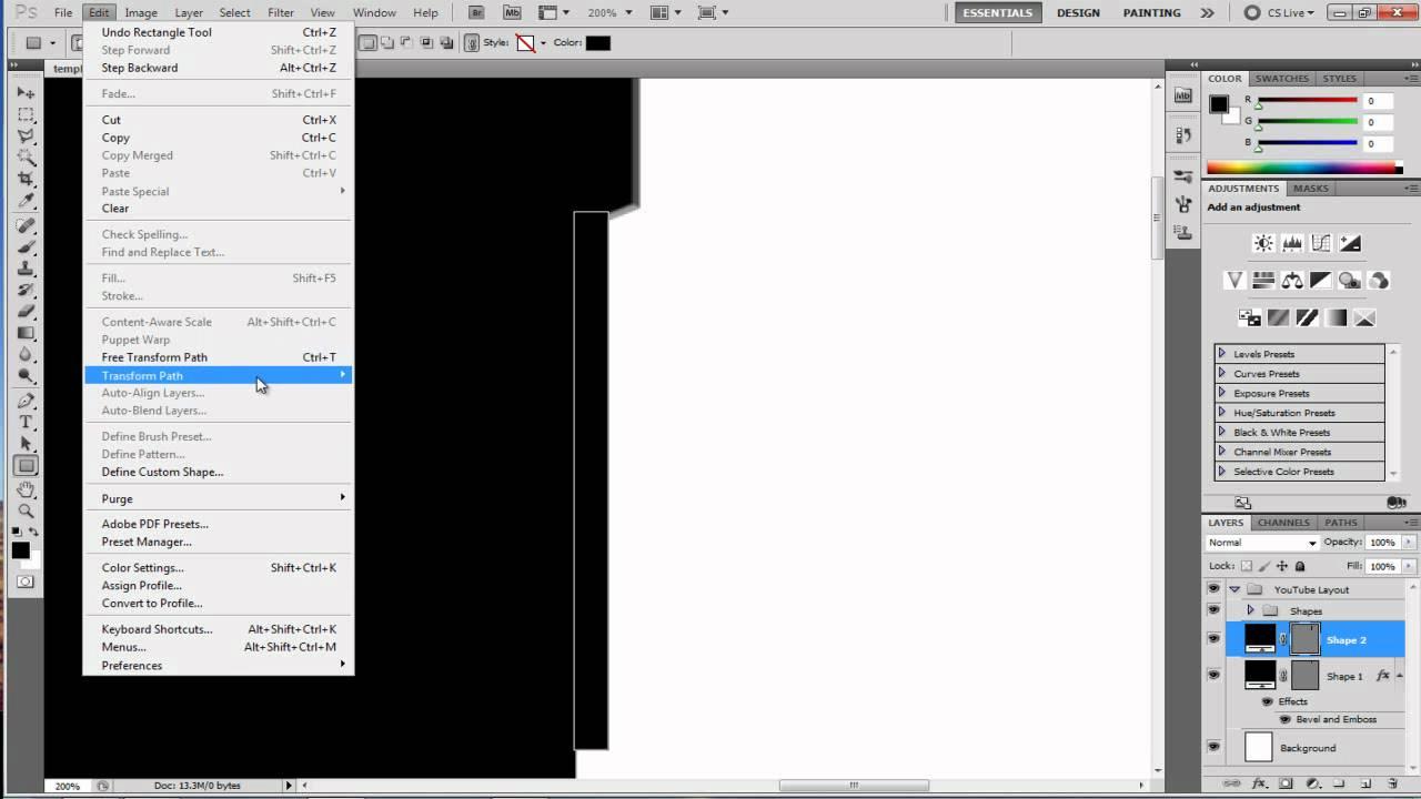 Photoshop cs4 cs5 tutorial free youtube background template and photoshop cs4 cs5 tutorial free youtube background template and how to edit it baditri Image collections