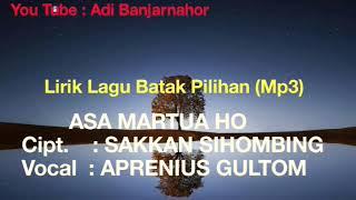 Gambar cover ASA MARTUA HO - Lirik lagu Batak Pilhan 2019 (Mp3)