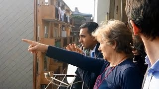 Luigi Di Maio (M5S): visita un appartamento vicino la Ferriera di Servola