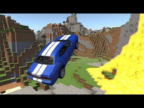 Гоша упал в МАЙНКРАФТ! Летаем на машинках! Игра про машины Beambg drive.