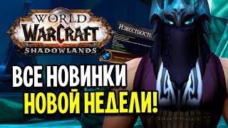 Я СДЕЛАЛ ЛЕГЕНДАРКУ 190 ИТЛВЛ! ВСЕ НОВИНКИ НОВОЙ НЕДЕЛИ SHADOWLANDS / World of Warcraft