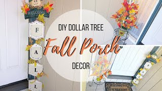 DIY DOLLAR TREE FALL PORCH DECOR