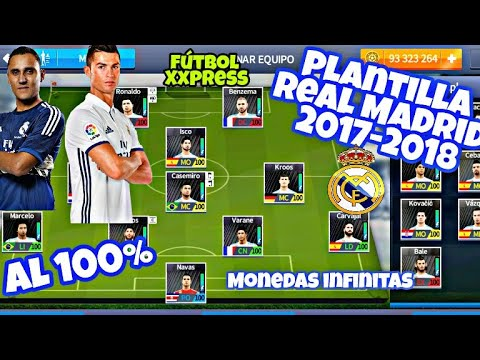 Plantilla Del REAL MADRID 2017-2018 / HACK Para Dream League Soccer /