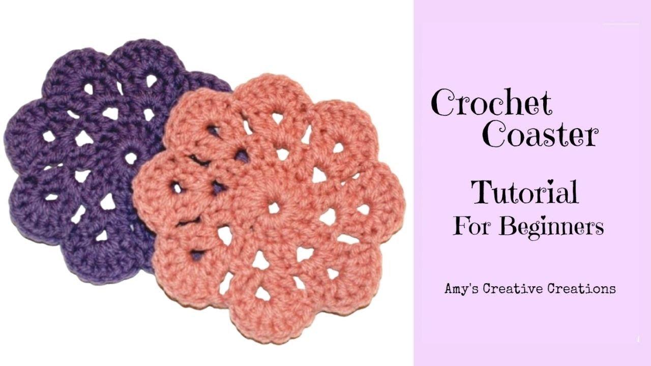 Crochet Coaster For Beginners Tutorial - Crochet Jewel ...