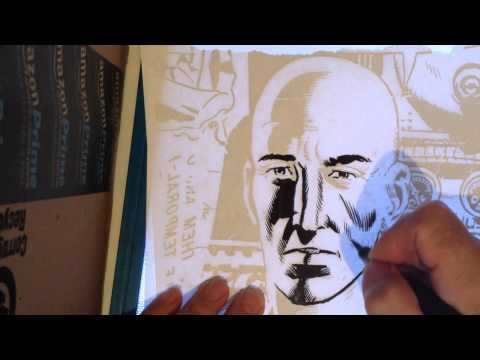 Comic Book Artist Ken Landgraf Demonstrates Wally Wood Style Lighting Techniques
