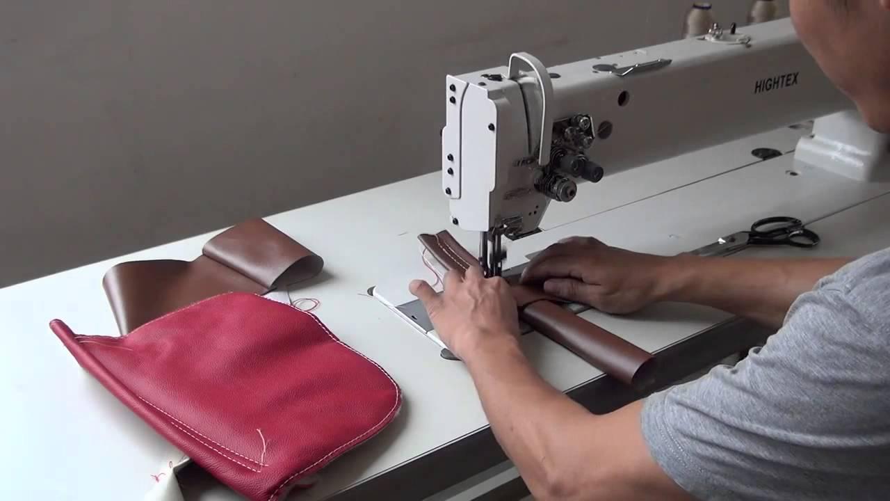 Maquina de coser para tapicería, brazo largo,doble aguja y