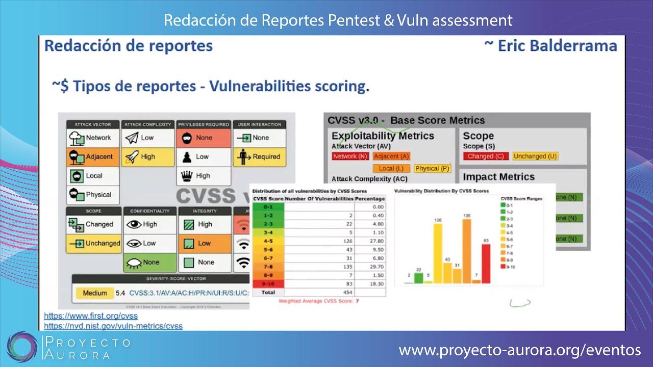 Webinar: Redacción de Reportes de Pentest y Vulnerability Assessment