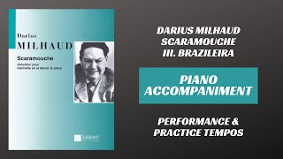 Darius Milhaud – Scaramouche, mvt. III (Piano Accompaniment)