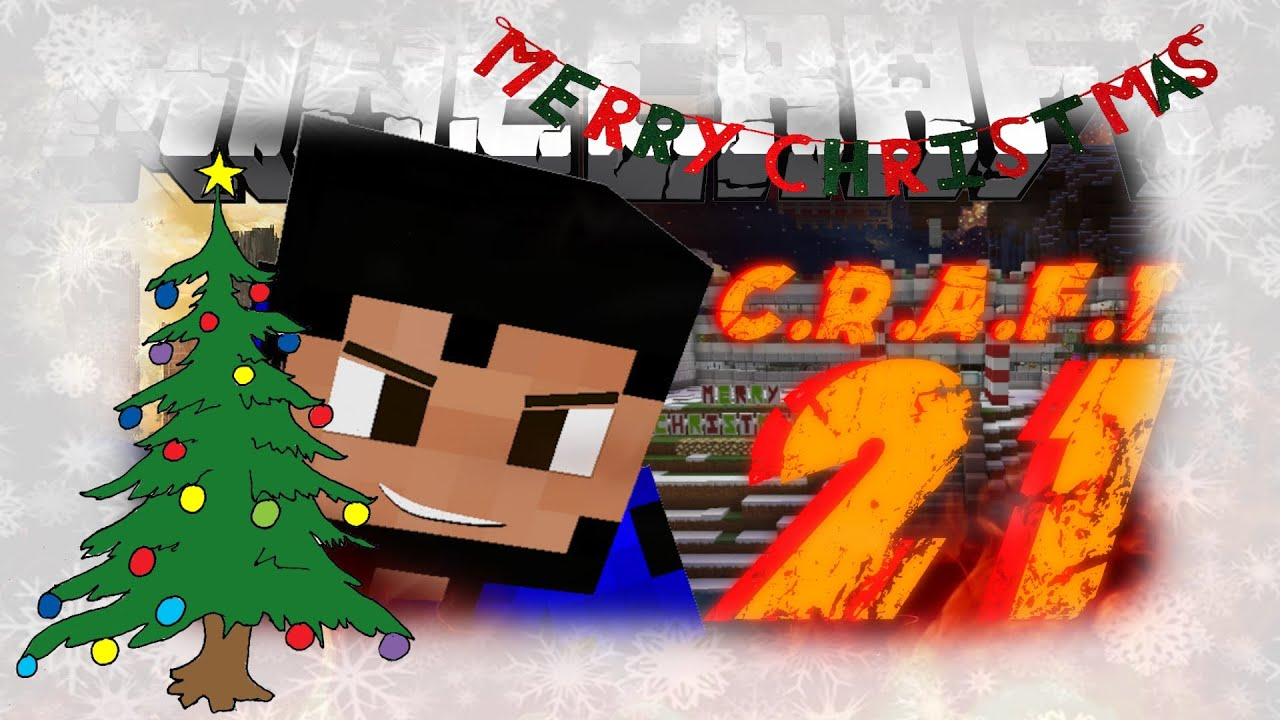 CHRISTMAS TREE AND BANNERS?! - Minecraft - C.R.A.F.T #21 (1.8 SMP ...