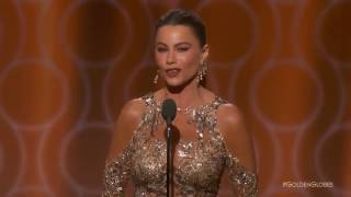 Sexy Sofia Vergara Funny Golden Globes Joke Blooper
