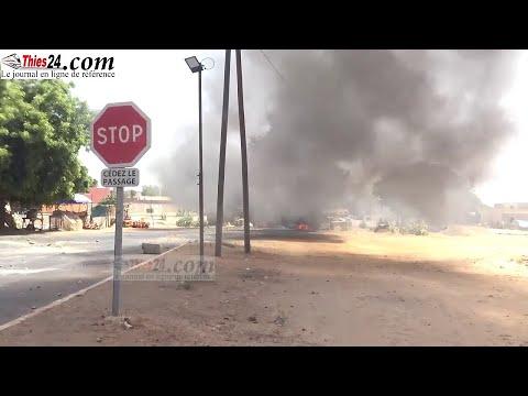 Révolte chauffeurs à Ndiassane, pneus brûlés sur la nationale, grand renfort de forces de l'ordre