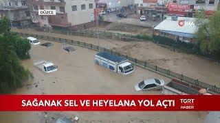 Düzce, Zonguldak ve Sakarya'yı Şiddetli Yağış Vurdu