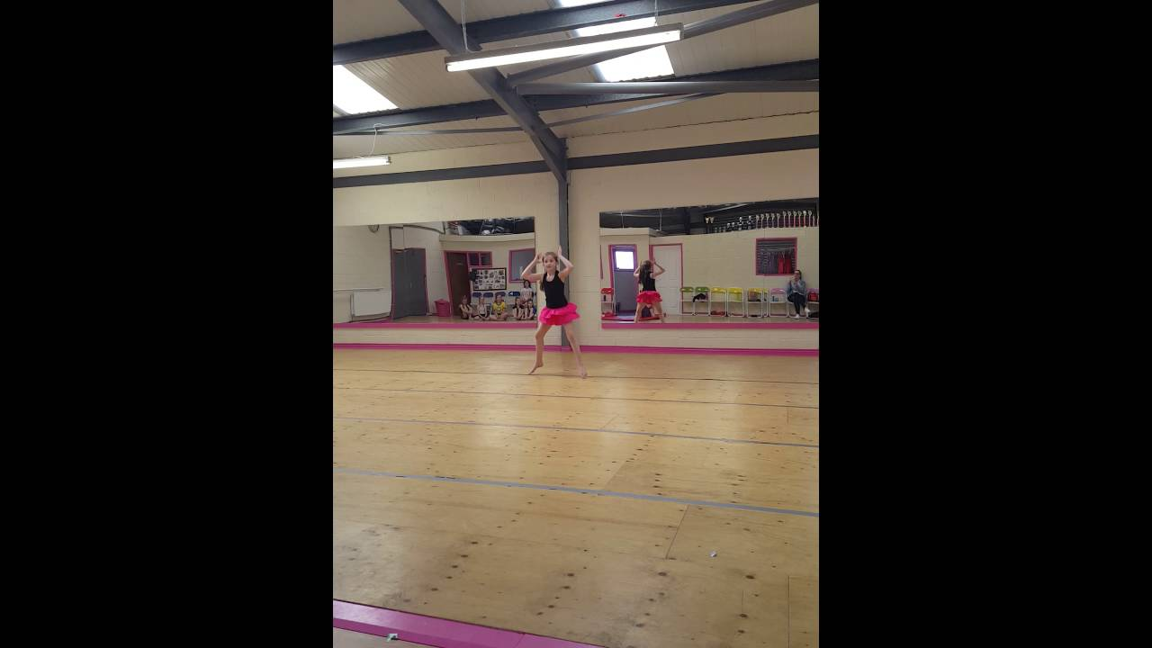 Download Halle Hughes age 8 choreographing her own dance
