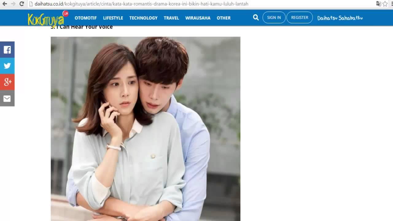 Kata Kata Romantis Drama Korea Ini Bikin Hati Kamu Luluh Lantah