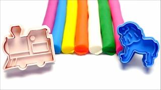 Play-Doh Creative Mold Fun - Lion & Train Shapes