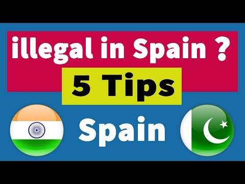 5 tips for illegals in Spain || illegal logon ke liye 5 Zarori tips || Urdu/Hindi