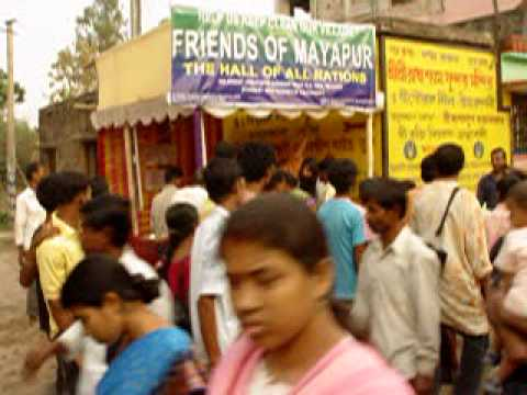Friends of Mayapur ecological stand. Mayapur India