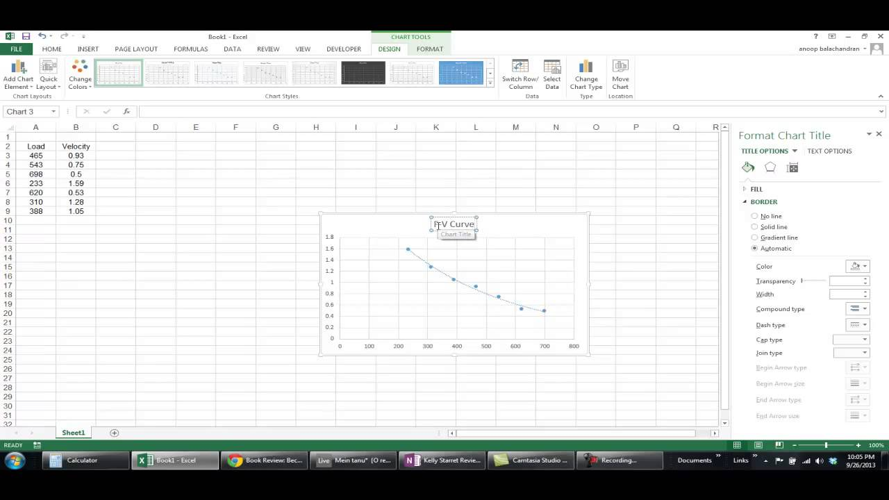 Force Velocity Curve Using Excel Youtube Thus The Drawforce Would Be A Straight Line Static