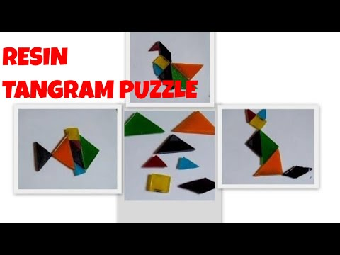 How to make a Tangram puzzle from resin without a silicone mold