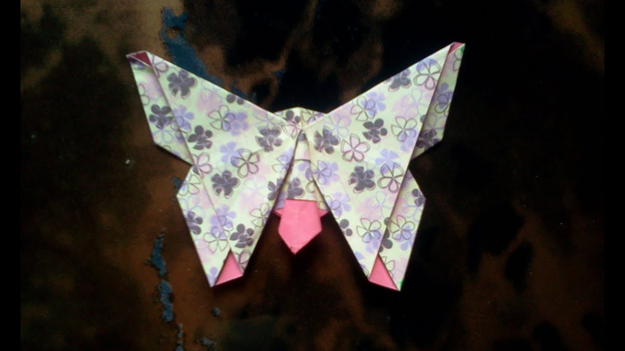 How to make Origami Butterfly - YouTube - photo#42