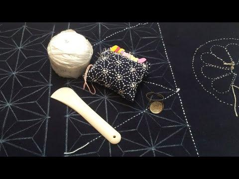 Last stitching live in 2017. Close up stitching of Sashiko