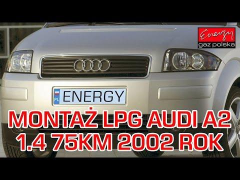 Montaż LPG Audi A2 z 1.4 75KM 2002r w Energy Gaz Polska na gaz Lovato Smart