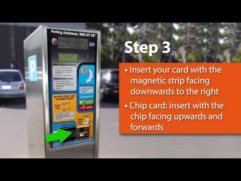 Using New Parking Meters - paying with Credit Card