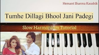 Tumhe Dillagi Bhool Jani Padegi Harmonium Tutorial (Notes Sargam)