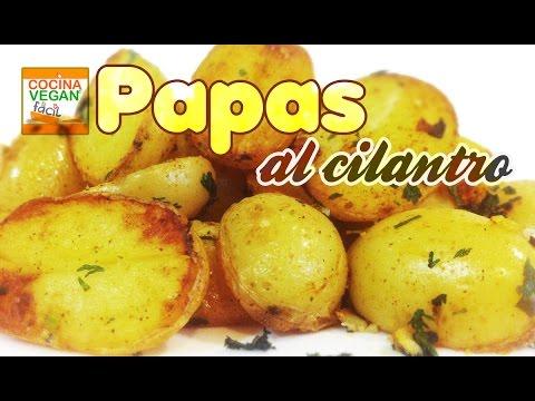 Papas al cilantro - Cocina Vegan Fácil