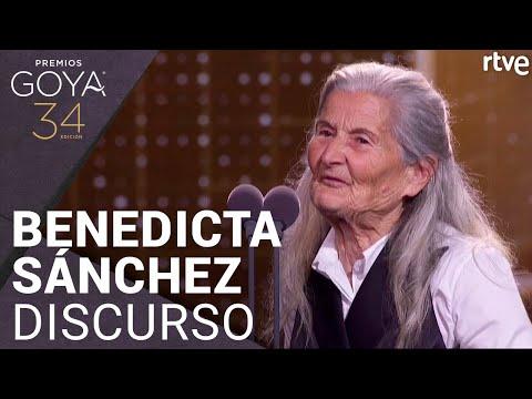 """El discurso íntegro de Benedicta Sánchez tras recibir el Goya: """"La vida te da sorpresas"""""""