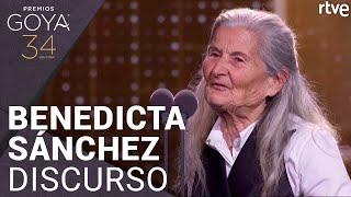 BENEDICTA SÁNCHEZ, MEJOR ACTRIZ REVELACIÓN | Premios Goya 2020