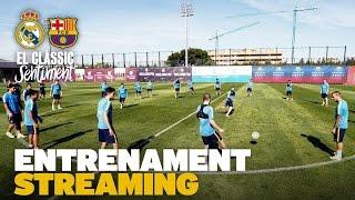 elclsico entrenament del fc barcelona previ al real madrid fc barcelona
