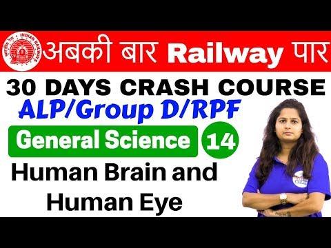 12:00 PM - Railway Crash Course | GS by Shipra Ma'am | Day #14 | Human Brain and Human Eye