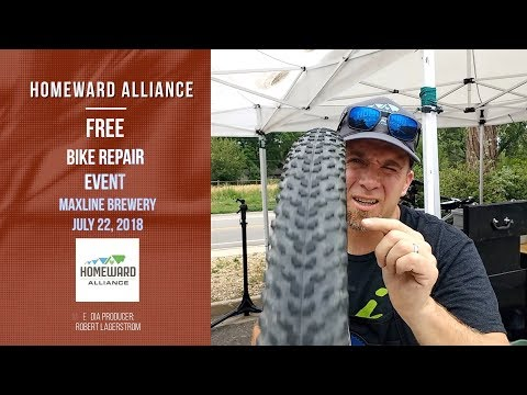 Homeward Alliance Free Bike Repair Event promo at Maxline Brewery Fort Collins, CO