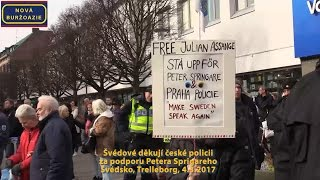 Švédové děkují české policii za podporu Petera Springareho - zahraniční videosestřih