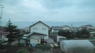 JR東日本 寝台特急カシオペア紀行長野 側面展望 塩尻大門~松本