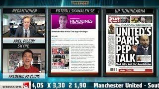 """Fotbollskanalen Headlines: """"United verkar inte intresserat av Pep"""" - TV4 Sport"""
