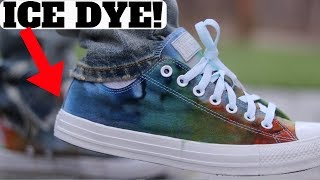 UNIQUE WAY TO CUSTOMIZE! ICE DYE CHUCK TAYLOR SHOES HOODIE & TEES TUTORIAL