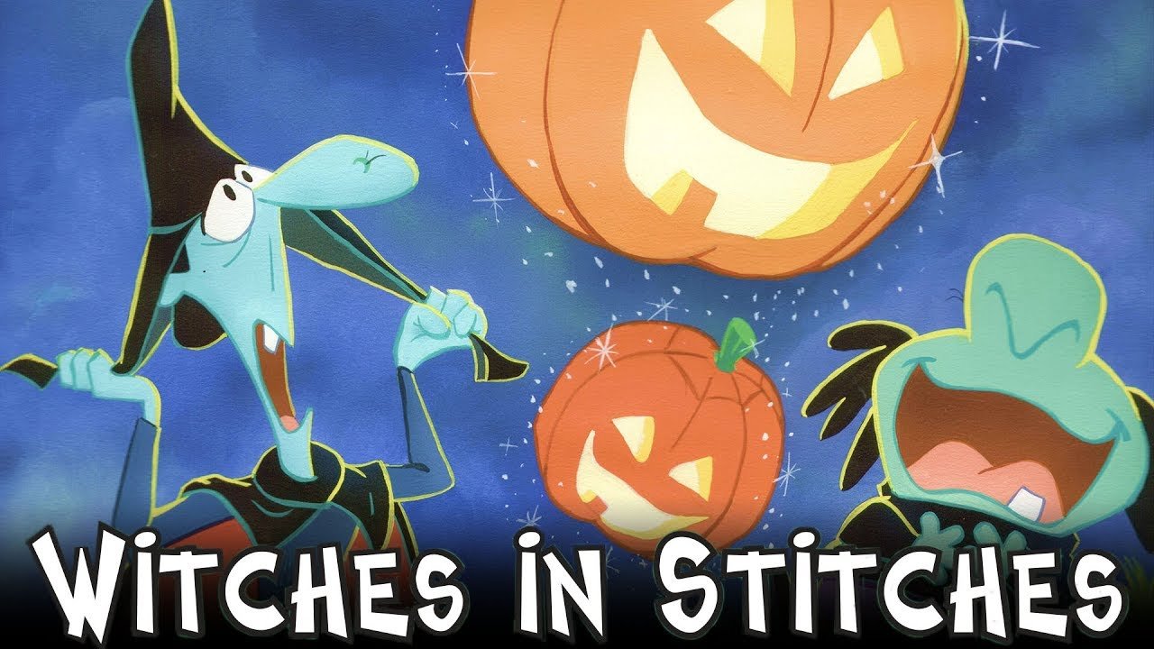 witches in stitches halloween trailer cartoons for kids