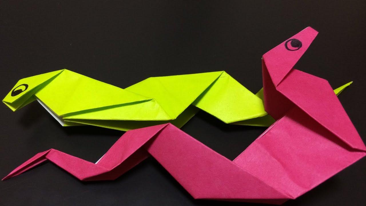 おりがみで=蛇(へび)=おってみた!ヘビの折り方 Japanese Traditional Origami ... - photo#48
