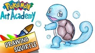 Pokemon Art Academy 3DS Gameplay - Drawing Squirtle