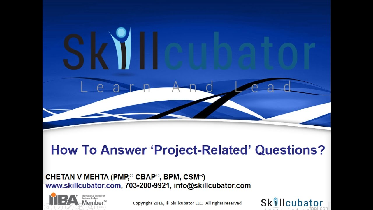 how to master project related questions in a business analysis how to master project related questions in a business analysis interview