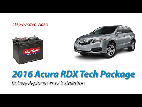 2016 Acura RDX Tech Package Car Battery Replace and Install (2nd Gen Model – 2015 to 2018)