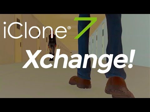 iClone 7  Xchange: how to import your own models - FBX, OBJ, BVH 3Ds