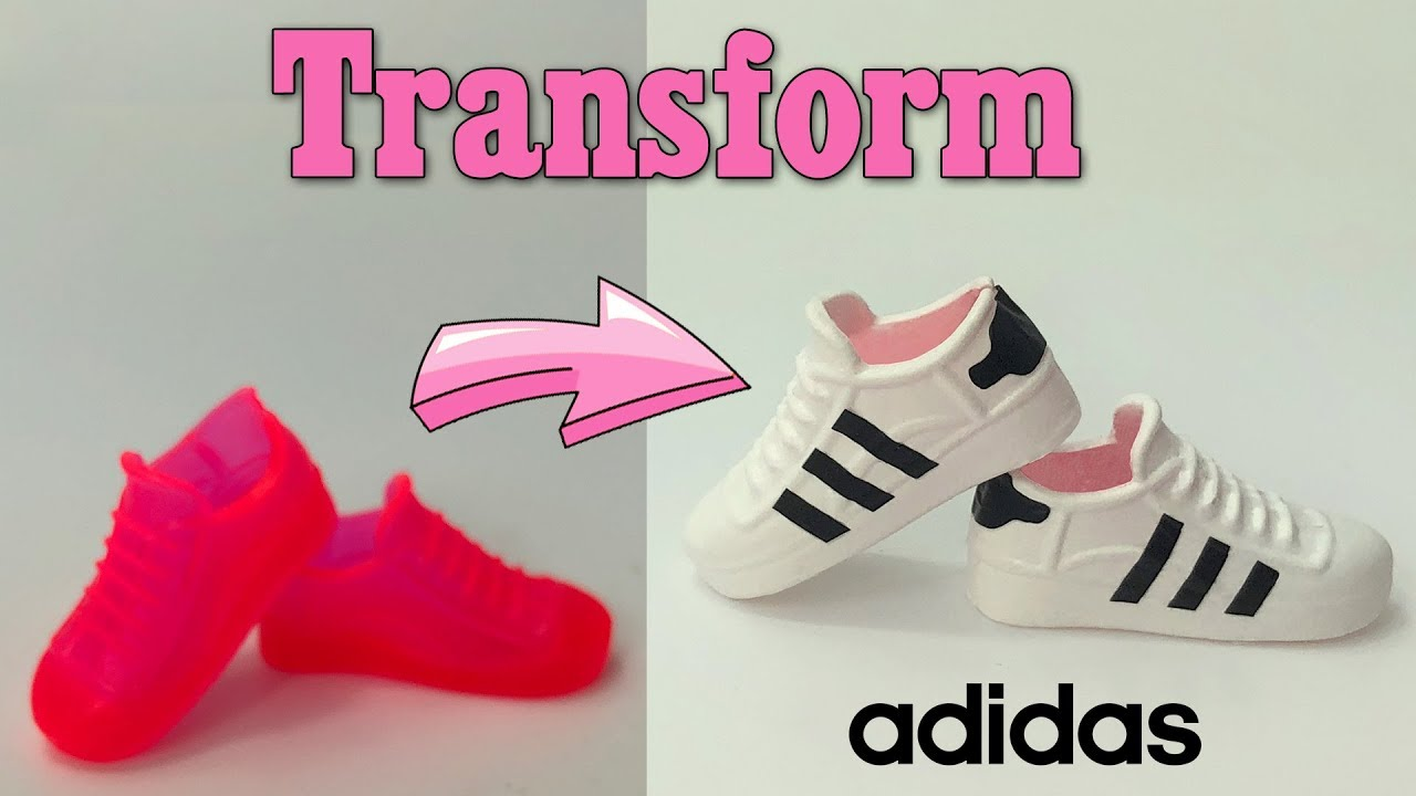 DIY How to make adidas sneaker for Barbie or any doll