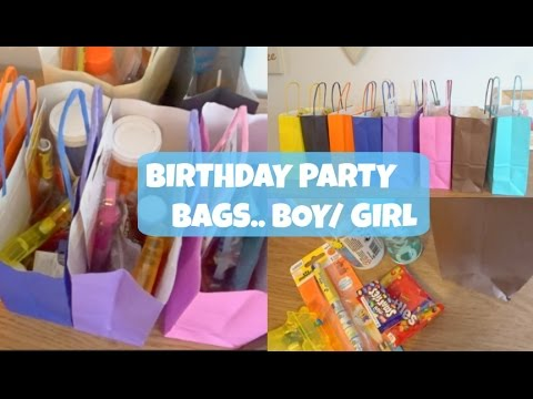 BIRTHDAY PARTY BAGS BOY GIRL IDEAS