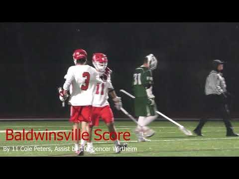 Game Highlights Spring Boys Varsity Lacrosse Baldwinsville VS Fayetteville Manlius 4/11/2018 4k